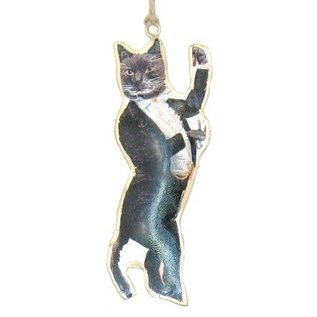 Gentleman Cat Ornament