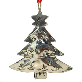 "3"" Silver Metal Tree Ornament"
