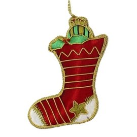 Embroidered Stocking Ornament