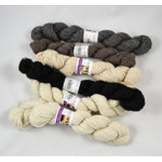 White Violet Center Worsted Weight Alpaca Yarn