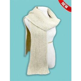 Alpaca Chunky Ribbed Knit Scarf