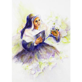 Mother Theodore Watercolor Laminated Prayer Card