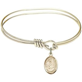 Saint Mother Theodore Guerin Oval Eye Hook Bangle