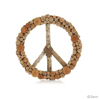 Fair Trade Peace Wreath - Coral Tree Wood