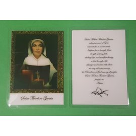 Prayer Card - Saint Mother Theodore Guerin