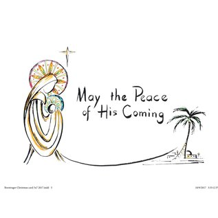"Packaged Christmas Cards - Sister Rosemary Borntrager ""May the Peace of his Comi"