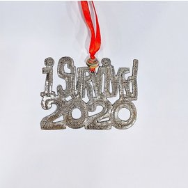 "Hand Tooled Ornaments from Recycled Oil Drums - ""I Survived 2020"" - Made in Haiti"