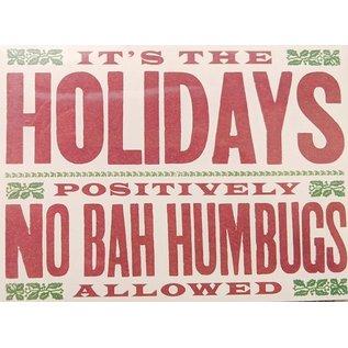 No Bah Humbugs - Boxed Christmas Cards