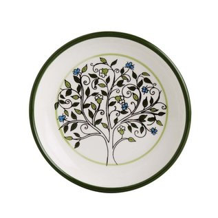 "Ceramic Tree of Life Dish, 5"", Crafted in West Bank"