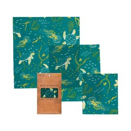 Bees Wrap Assorted 3 Packs - Ocean Print