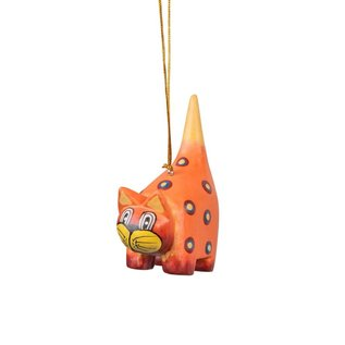 Spotted Orange Cat Handpainted Ornament