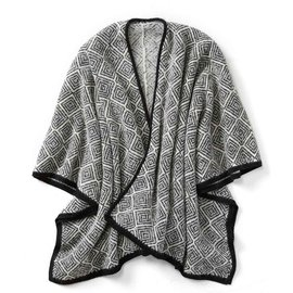 Diamond Alpaca Poncho - 100% Alpaca Made in Peru