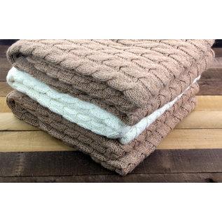 Big Cable Alpaca Blanket