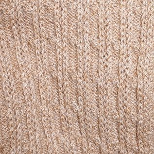 Cable Knit Scarf, Free Size - Tan