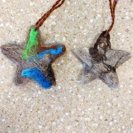 Handmade Felted Ornaments - Made with real Alpaca fiber!