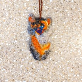 Handmade Felted Ornaments from WVC - Owl