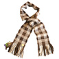 Alpaca Scarf Hand Woven by Sister Jean Fuqua - Brown/Tan Plaid