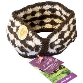 Hand Crocheted Alpaca Ear Warmer - Brown/Latte