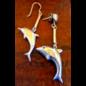 Playful Dolphin Earrings - Sterling Silver
