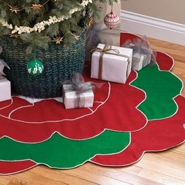 Festive Floral Fair Trade Tree Skirt