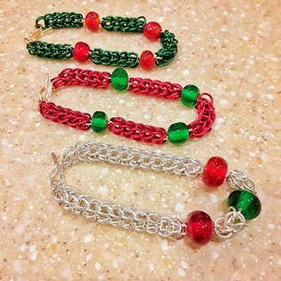Chain Maille Christmas Bracelets