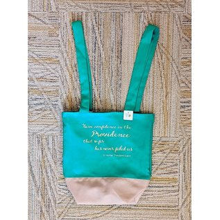 Bi-Color Lined Tote Bag with Assorted SMTG Quotes