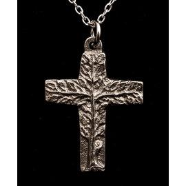 Tree of Life Cross Pendant on Black Cord
