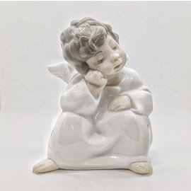 """Lladro Brand Porcelain """"Angel Thinking"""" - Used - Perfect Condition"""