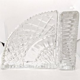 Cut Glass Design Bookends - Used