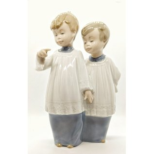 NAO by Lladro Porcelain Choir Boys - Used, Tiny Chip