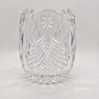 "Mikasa Heavy Crystal ""Christmas Tree"" Votive - Used, Perfect Condition"