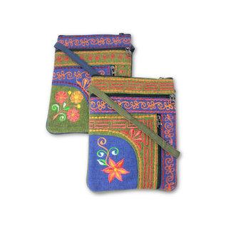 Passport Bag with 2 zips and Vertical zip pocket