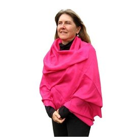 "Cotton/Poly Pashmina-like Shawl, 27""x80"""
