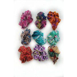 Recycled Silk Sari Scrunchy - Assorted Colors