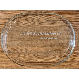 "Glass Platter - ""To Fortify & Sustain Us..."""