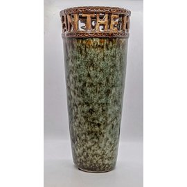 "Ceramic Vase with ""Rejoice In The Lord"""