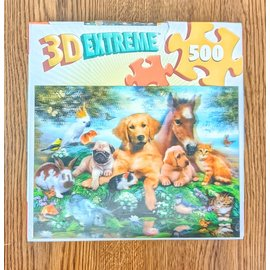 3D Extreme Animal Puzzle 500 Pieces - Used