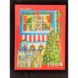 Christmas on Pet Street 1000 piece puzzle - Used