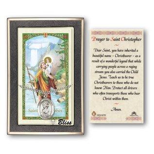 St Christopher Medal & Prayer card