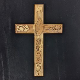 Wooden Glossed Crucifix
