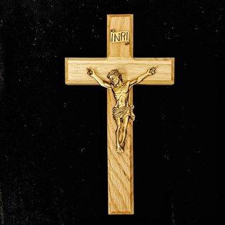 Oak and Bronze Crucifix