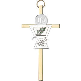 Classic Style Communion Chalice Wall Cross - 4 in.