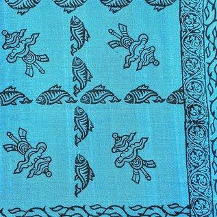 Fair Trade Cotton Block Print Runner & Shawl