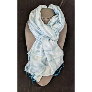 Seafoam Silk and Linen Scarf