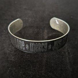 Love Mercy Justice Bangle Bracelet