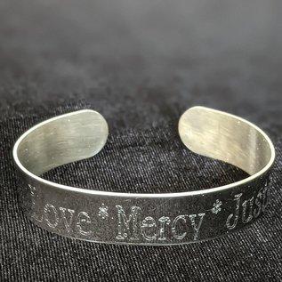 Love Mercy & Justice Bangle Bracelet
