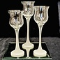 Set of Three Votives on Mirror Base -  Used - Perfect Condition
