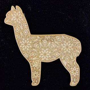 Alpaca Wooden Mandala