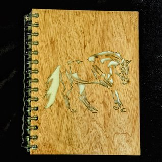 Ellie Pooh Journal - Wood Cover Horse