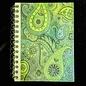 Ellie Pooh Journal - Paisley Design Green